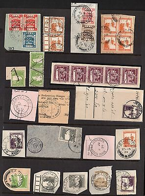 PALESTINE 1920's-40's SPECIALIZED COLLECTION OF 130+ MOST WITH FULL CANCELS ON
