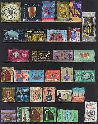 Palestine Egypt 1955 67 Collection Of 84 Stamp Issues For Gaza All Nh