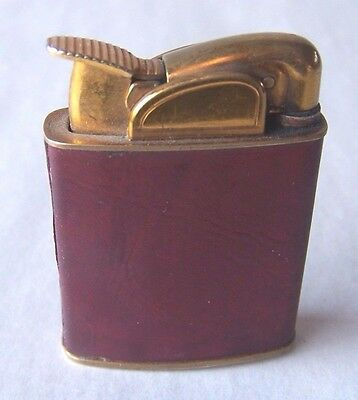 Vintage  Evans Lighter Gold Tone With Leather Band Used And Working