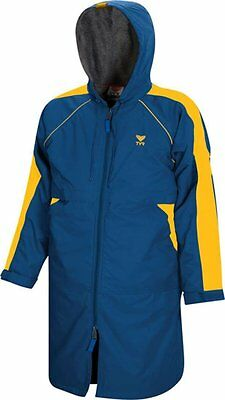 TYR 470WASP2YS Youth Alliance Parka - Gold Royal Blue S Small Swim Team Jacket
