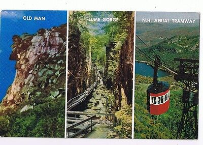 3 Views Of Franconia Notch White Mountains New Hampshire - Postcard # C16266