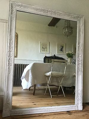 Large Antique French Painted Mirror