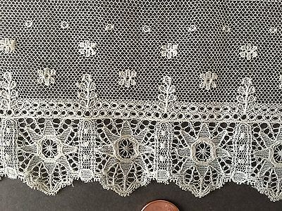 Vintage unusual machine lace two cuff length pieces COSTUME CRAFT