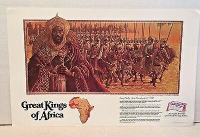 Budweiser Great Kings of Africa Poster - Sunni Ali Ber of Songhay - EUC, 1981