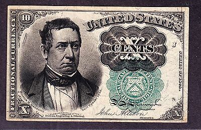 US 10c Fractional Currency Green Seal FR 1264 Ch AU