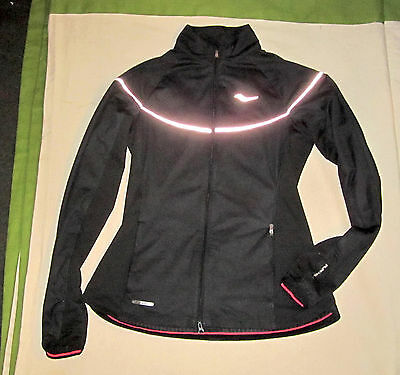 Saucony Nomad Running Jacket womens S size small SA81318-BK FlexShell Waterproof