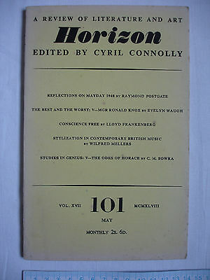 Used magazine HORIZON-Vol XVII-Issue 101 May 1948-Cyril Connolly-Odes of Horace