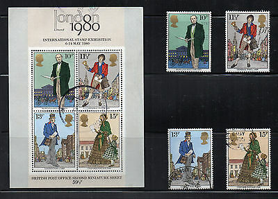 GB London 1980 2nd miniature sheet and stamps USED