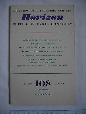 Used magazine HORIZON-Vol XVIII-Issue 108 December 1948-Cyril Connolly-Cubism.