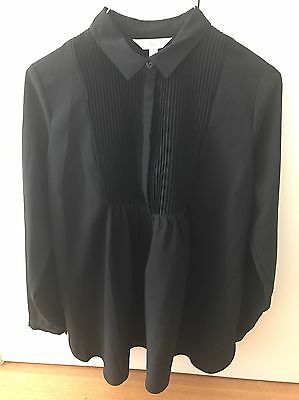 Ripe Maternity Black Pleat Work Shirt Sz M immaculate Condition