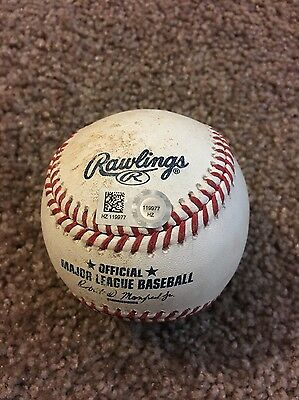 8/10/2016 Giants Joe Panik SINGLE Game used baseball