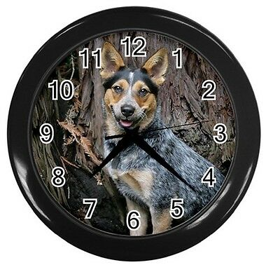 NEW BLUE HEELER DOG 10inch ROUND WALL CLOCK HOME OFFICE DECOR 89228745