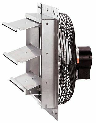 "Dayton 10"" Shutter Mount Exhaust Fan, Voltage 115V, Motor HP 1/25 - 1HLA1"