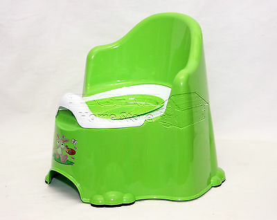 Green Kids Potty Training Seat Chair With Removable Pot Lid & Anti Slip Feet