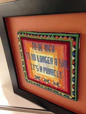 Cross Stitch Framed Picture