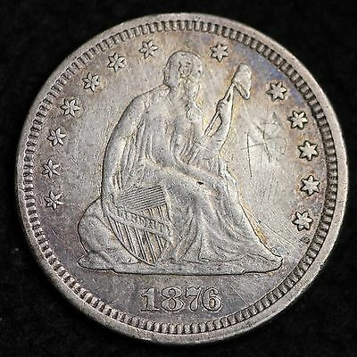 1876 Seated Liberty Quarter CHOICE XF FREE SHIPPING E280 CM
