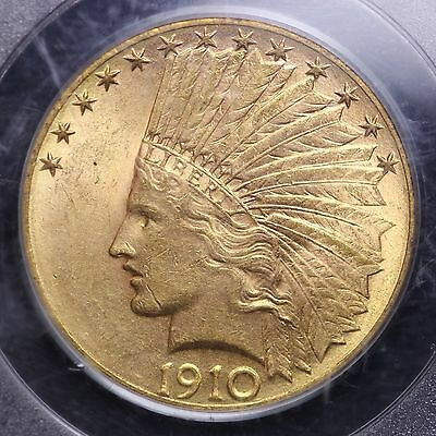 1910-D Gold 10 Dollar Indian Eagle PCGS MS61 FREE SHIPPING