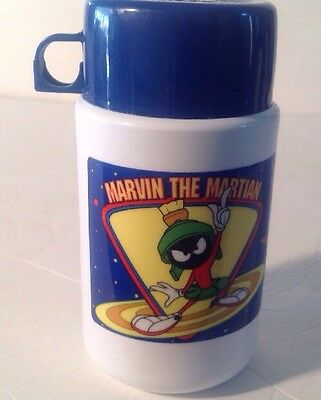Vintage Marvin The Martian Plastic Thermos Brand Warner Brothers Looney Tunes