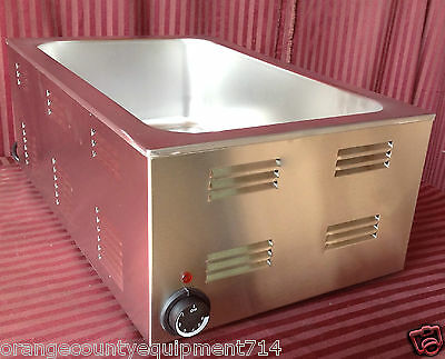 NEW 12x20 Food Warmer Full Size Steam Pan #1472 Table Top 20 qt NSF Bain Marie