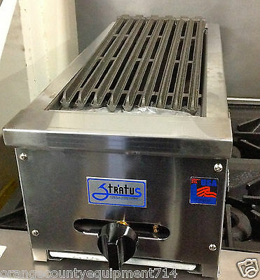 "NEW 12"" Radiant Char Broiler Gas Grill Stratus SRB-12 #1051 Burger Steak BBQ USA"