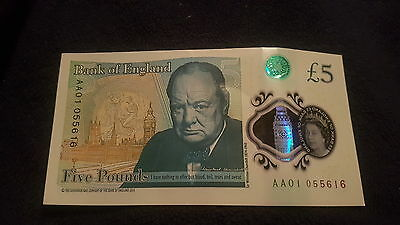 Five Pound Polymer Note RARE AA01 0...