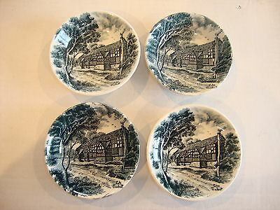 "4 W. H. Grindley Centenary Small Bowls, Butter Pats, ""The Talbot"""