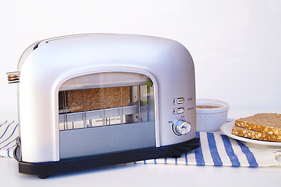 New 2-slice SIlver See-Through Automatic Toaster  Best Kitchen