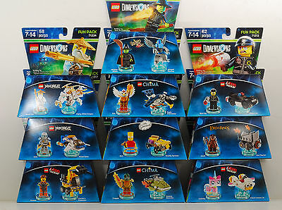 Lot of 10 BRAND NEW LEGO Dimensions Assorted Fun Packs - Ninjago, Movie, LOTR