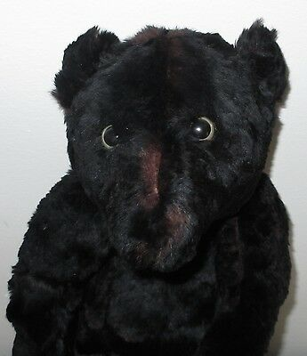 """Vintage Old Mouton Fur Jointed Teddy Bear 19"""" Tall"""
