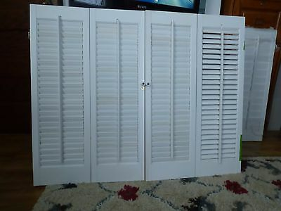 # A    white 3/4 inch shutters  Used 1 year.  excellent old stock.