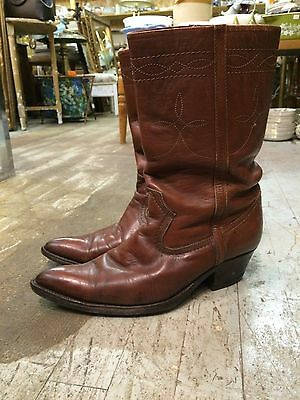 vintage '40-50 mexican western roper pointy cowboy boots mens sz 8? rockabilly