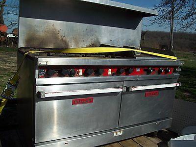 vulcan 2 oven stove and coke fountain and toaster, coffee maker restaurant equip
