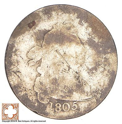 1805 Draped Bust Dime *Condition: Blank Reverse *0688