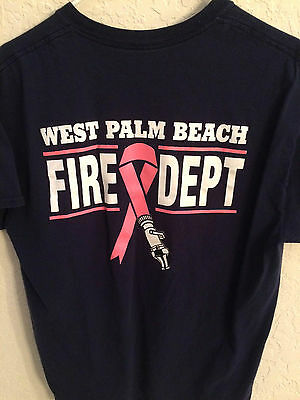 City Of West Palm Beach Fire Rescue Department Breast Cancer T Short Sleeve T Sh