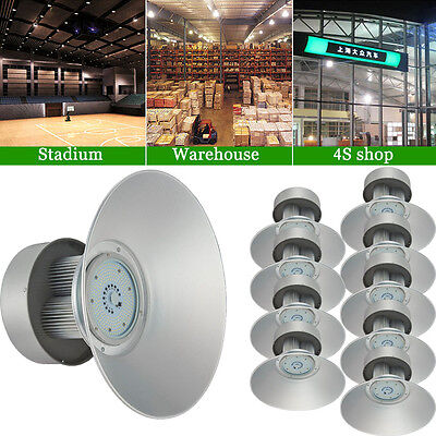 10× 150Watt LED High Bay Light White Lamp Lighting Shed Factory Industry Fixture
