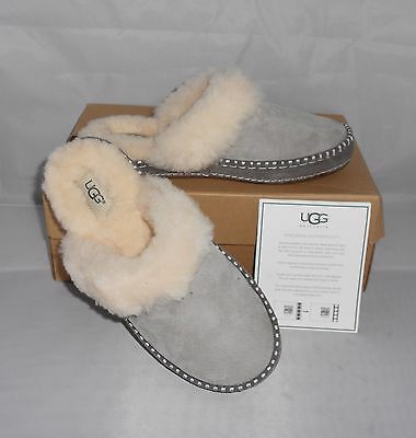 Ugg Women's Aira Slipper Shoes Seal Grey Size 9  New In Box