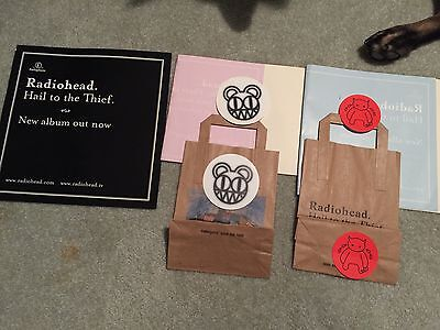 Radiohead Promo Stickers & Other Miscellaneous Items