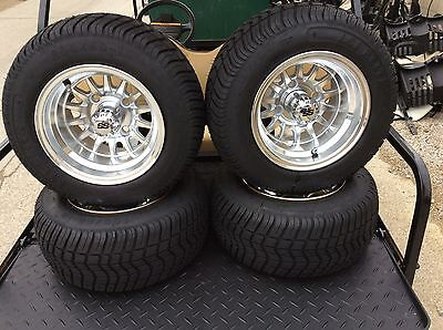 GOLF CART WHEEL And Tire Combo Set Of Four CUSTOM 10 Inch ...