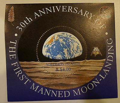 Solomon Islands 30 Ann. Moon Landing Scott # 879 Souvenir Sheet Mnh
