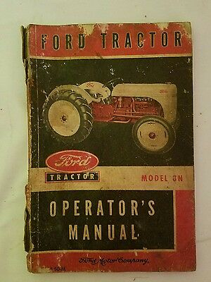 Vintage 1950 Agriculture Ford Model 8N Tractor Operator's Manual