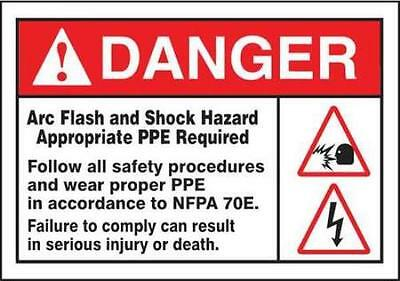 Label, 3-1/2x5, Danger Arc Flash and Shock