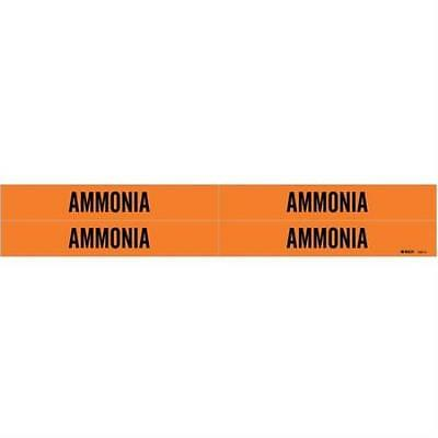Pipe Marker, Ammonia, Orng, 3/4 to 2-3/8 In 2PK