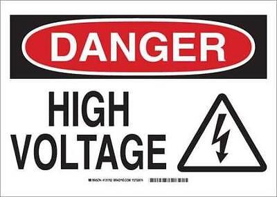 Danger Sign, 3in.Hx5in.W, Sticking Poly 2PK