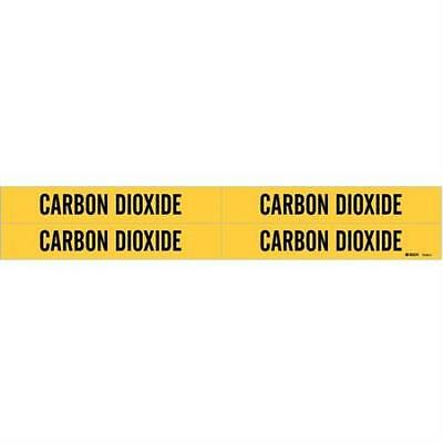 Pipe Marker, Carbon Dioxide, 3/4to2-3/8 In 2PK