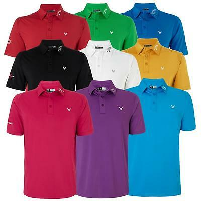 56% Off Rrp Callaway Golf Mens Solid Interlock Odyssey Logo Golf Polo Shirt