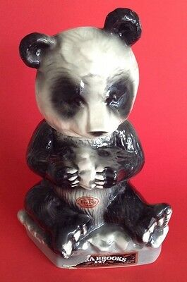1972 PANDA BEAR LIQUOR DECANTER Ezra Brooks Genuine Heritage Nixon Ying&Yang Era