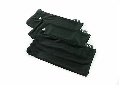 Oakley 3 Pack - Large Black Micro Fiber Cloth Sunglasses Cleaning Storage Bags
