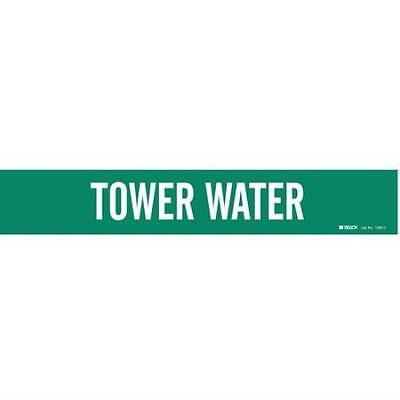 Pipe Marker, Tower Water, 2-1/2to7-7/8 In 2PK
