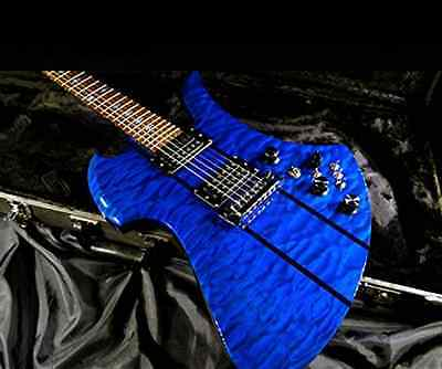 B.C.Rich USA CustomShop Mockingbird Deluxe Trans Blue Electric Guitar Excellect