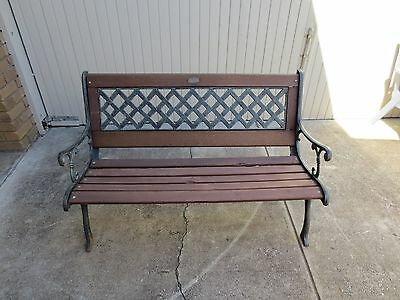 Cast Iron Outdoor Garden Seat,Renovated,New Timber Fitted.